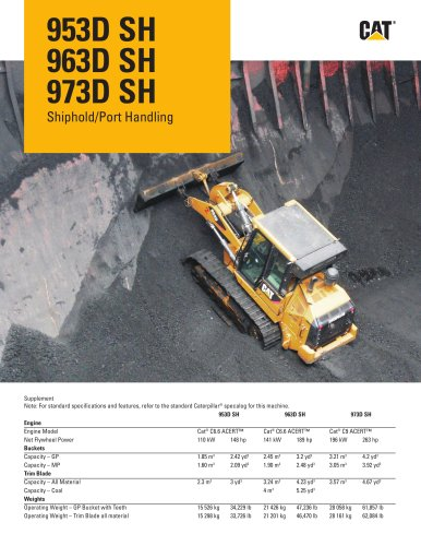 953D SH 963D SH 973D SH Shiphold/Port Handling