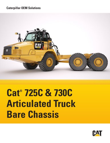 Cat®  725C & 730C Articulated Truck Bare Chassis
