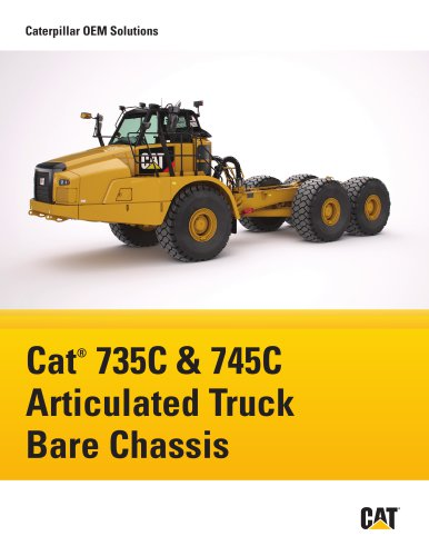 Cat®  735C & 745C Articulated Truck Bare Chassis