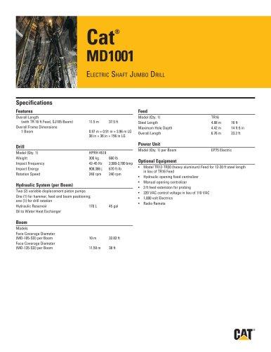 Cat® MD1001 ELECTRIC SHAFT JUMBO DRILL