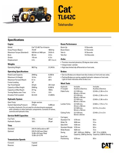 TL642C Telehandler
