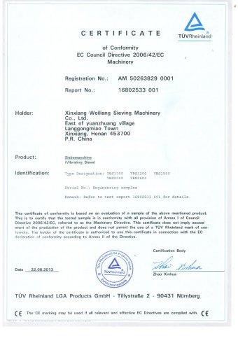 CE certificates YBS rotary sieve