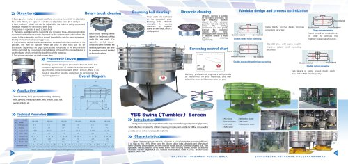 Weiliang CE YBS circular rotary screener for food and chemical industry