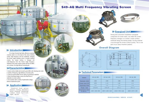 Weiliang S49-AQ circular vibrating screener for food and chemical industry