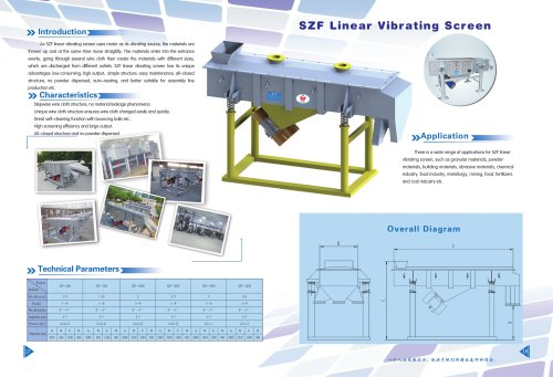 Weiliang SZF linear vibrating screener for chemical and mineral industry