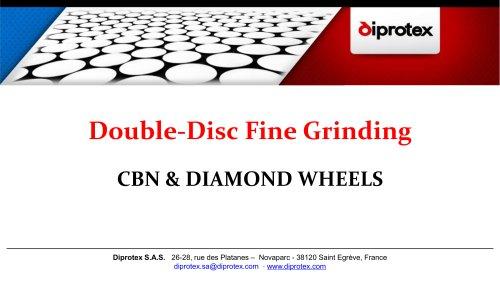 CBN & Diamond Double-Disc Fine Grinding Wheels