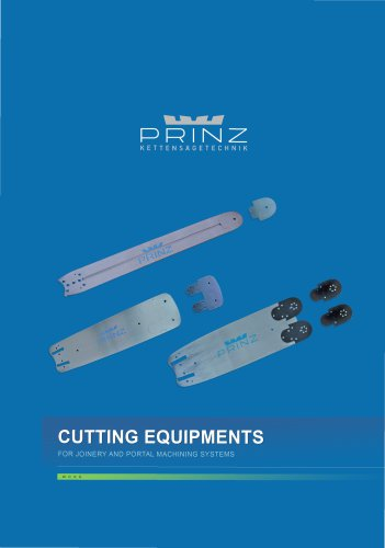 Cutting equipments for joinery and portal machining systems