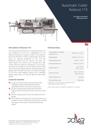 Automatic Cutter Autocut 115