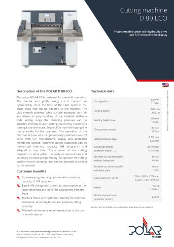 Cutting Machine D 80