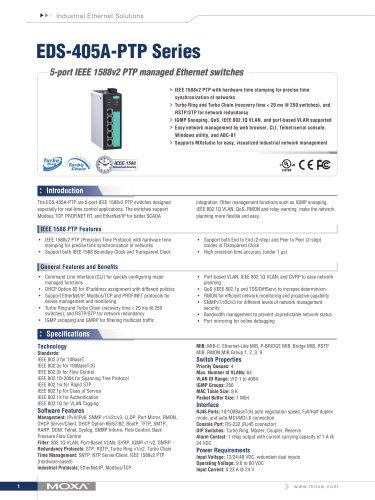 EDS-405A-PTP Series