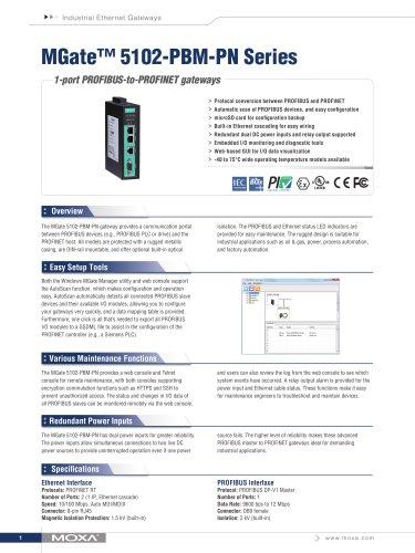 MGate™ 5102-PBM-PN Series