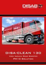 DISA-CLEAN 130 High Vacuum Road Sweeper PM10 Solution