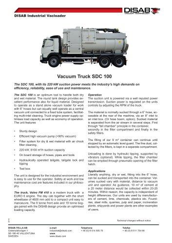 Vacuum Truck SDC 100