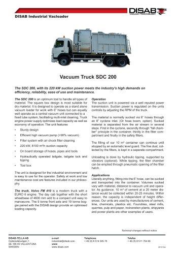Vacuum Truck SDC 200