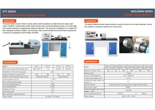 JINAN HENSGRAND Bending testing machine and Torsion testing machine
