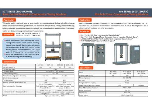JINAN HENSGRAND Compression Testing Machine