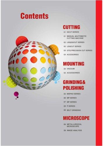 JINAN HENSGRAND contents of metallographic equipment