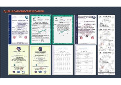 JINAN HST Qualification& Certification