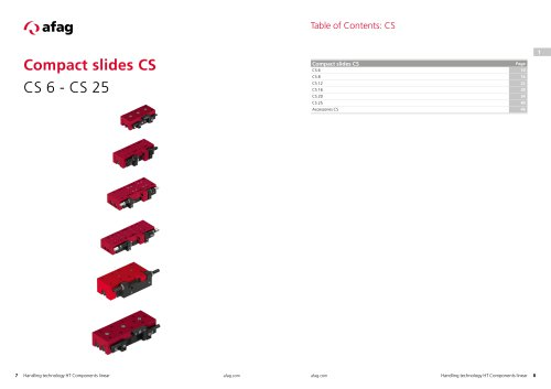Compact slides CS CS 6 - CS 25