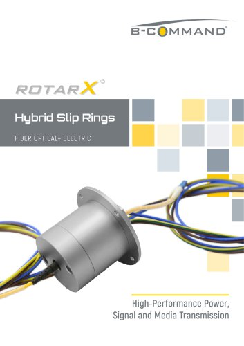 FORJ Fiber Optic Slip Rings rotarX by B-COMMAND
