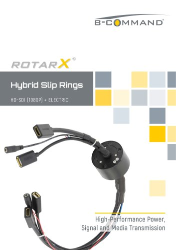 HDMI / HD-SDI Slip Rings rotarX by B-COMMAND