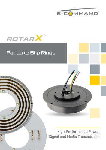 Pancake Slip Rings rotarX by B-COMMAND
