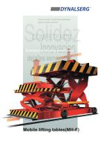 Mobile lifting tables MH-F