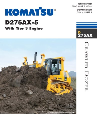 D275AX-5 With Tier 3 Engine