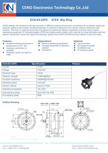 CENO ATEX Slip ring ECN-EX-03P2