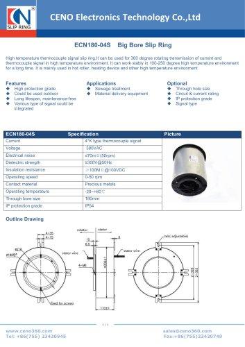 CENO Big hole Slip Ring ECN180-04S