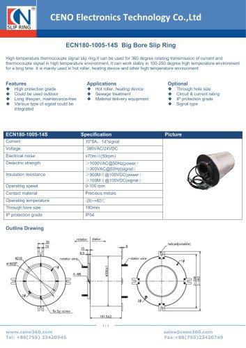 CENO Big hole Slip Ring ECN180-1005-14S