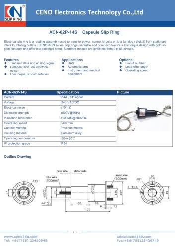 CENO Capsule Slip Ring ACN-02P-14S