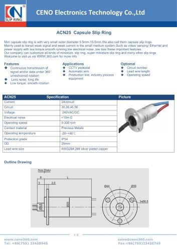 CENO Capsule Slip Ring ACN25