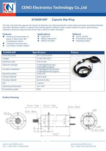 CENO Capsule Slip Ring with multi channel ECN000-64P