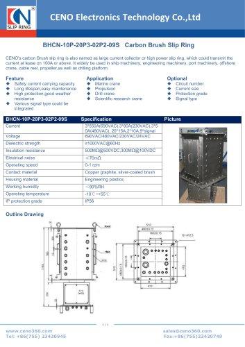 CENO Carbon Brush Slip Ring BHCN-10P-20P3-02P2-09S
