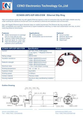 CENO Ethernet slip ring ECN000-26P2-02P-08S-01EM