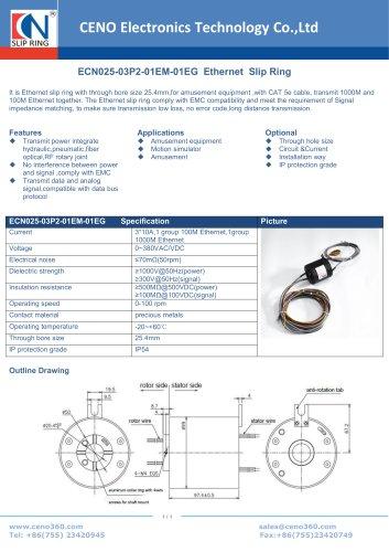 CENO Ethernet slip ring ECN025-03P2-01EM-01EG