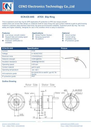 CENO  Explosion proof ATEX slip ring ECN-EX-04S