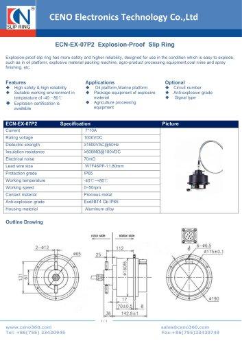 CENO Explosion-Proof Slip Ring ECN-EX-07P2