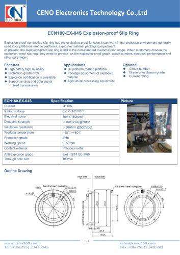CENO Explosion-proof Slip Ring ECN180-EX-04S