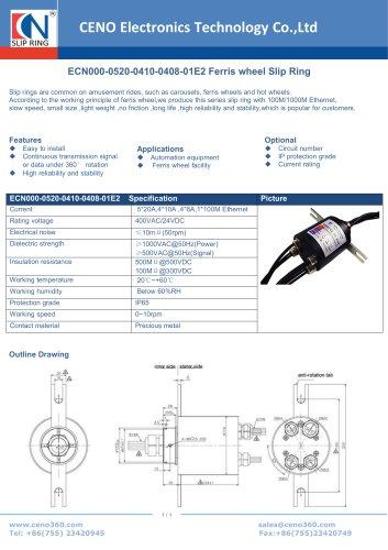 CENO Ferris wheel Slip Ring ECN000-0520-0410-0408-01E2