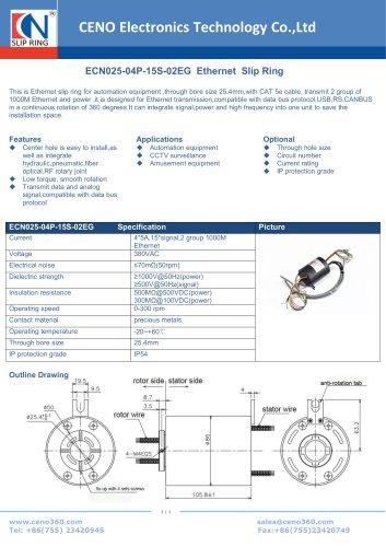 CENO Ferris wheel slip ring ECN025-04P-15S-02EG