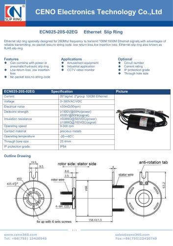 CENO Ferris wheel slip ring ECN025-20S-02EG
