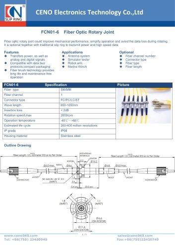 CENO Fiber optic rotary joint 6.8mm diameter FCN01-6