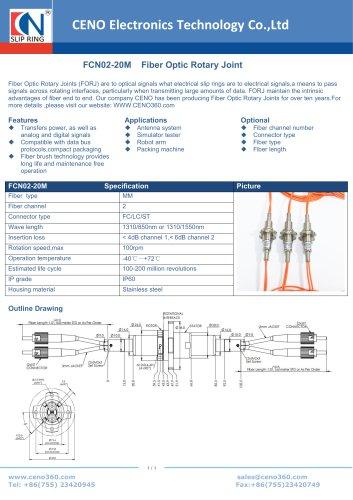 CENO Fiber optical rotary joint multimode FCN02-20M