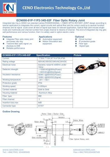 CENO FORJ intergrate power slip ring ECN000-01P-11P2-34S-02F