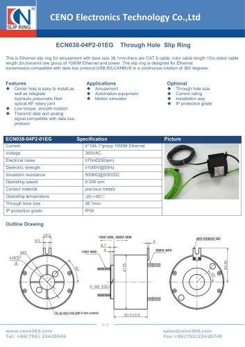CENO Gigabit Ethernet slip ring ECN038-04P2-01EG