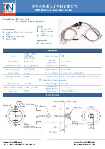 CENO HD Slip ring ACN-30S-01EG-01UB-01HD-01R
