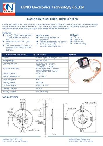 CENO HDMI Slip Ring ECN012-05P2-02S-HD02