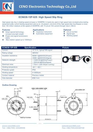 CENO High speed slip ring ECN038-15P-02S